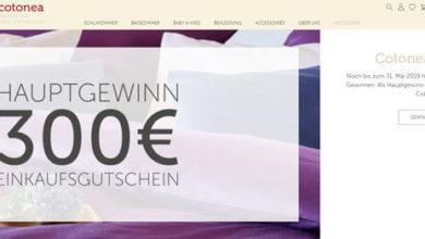 Cotonea Gewinnspiel 300€-Shopping-Gutschein gewinnen