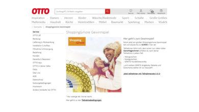 Bild von Otto Shopping Gewinnspiel Bis zu 8.000 Euro bar