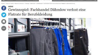 Dähmlow Gewinnspiel: Berufskleidung-Flatrate gewinnen