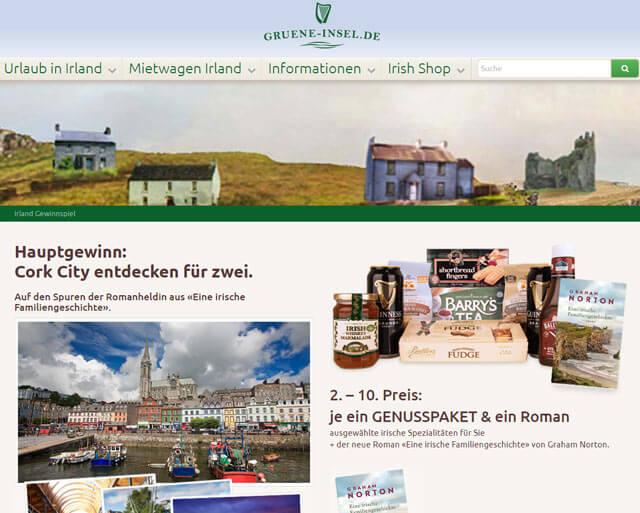 Gruene-Insel.de Gewinnspiel Irlandreise gewinnen