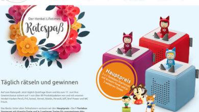 Bild von Henkel LifeTimes Gewinnspiel Toniebox Starterset gewinnen