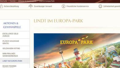 Lindt Gewinnspiel Erlebnisaufenthalt im Europa-Park gewinnen