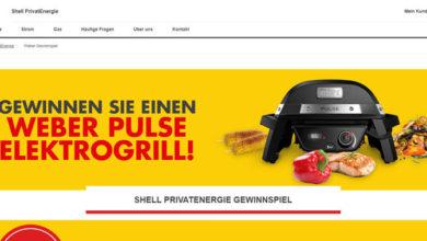 Shell PrivatEnergie Gewinnspiel Elektrogrill gewinnen