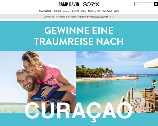 Camp David Gewinnspiel Karibik-Reise gewinnen