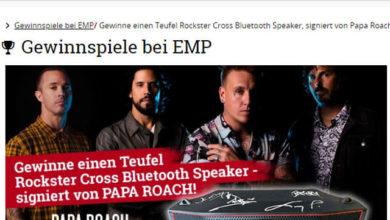 Bild von EMP Gewinnspiel Bluetooth-Stereo-Speaker gewinnen