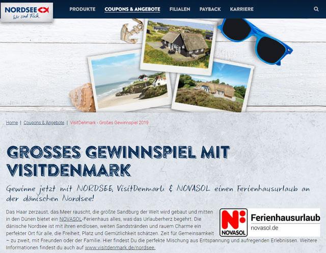 Nordsee Gewinnspiel Ferienhausurlaub an dänischer Nordsee gewinnen