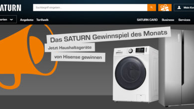 Saturn Gewinnspiel Waschmaschine gewinnen