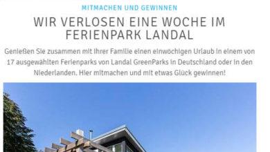 FürSie-Gewinnspiel Eine Woche im Ferienpark Landal gewinnen