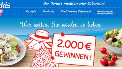 Salakis Gewinnspiel 2.000 € gewinnen