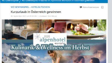 Westdeutsche Zeitung Gewinnspiel: Österreich -Kurzurlaub gewinnen