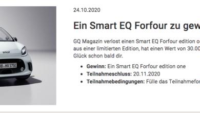 """Bild von Smart EQ Forfour """" Edition One"""" gewinnen"""