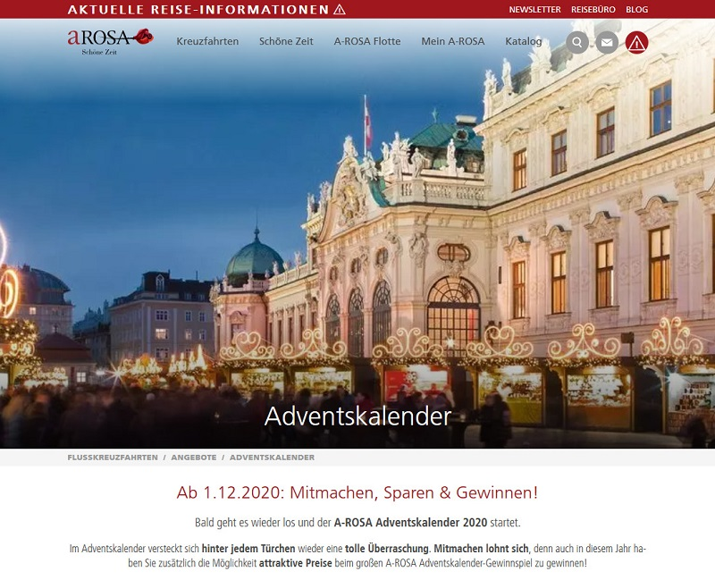 A-ROSA Adventskalender Gewinnspiel 2020