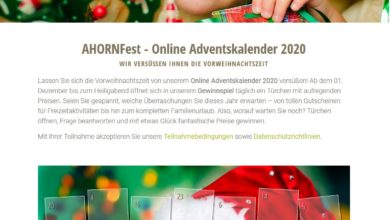 Ahorn Hotels-Adventskalender 2020