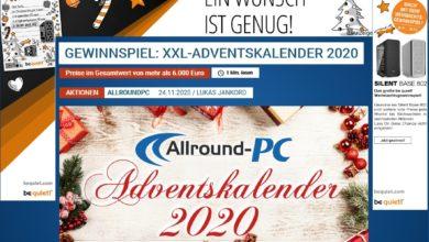 Allround-PC-Adventskalender Gewinnpiel 2020
