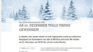 Alpin-Adventskalender Gewinnspiel 2020