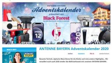 Antenne Bayern-Adventskalender Gewinnspiel 2020