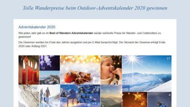 Best of Wandern Adventskalender Gewinnspiel 2020