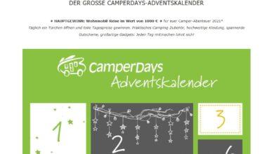 CamperDays Adventskalender Gewinnspiel 2020