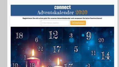 Connect Adventskalender Gewinnspiel 2020