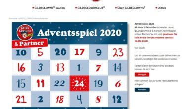 GILDECLOWNS Adventskalender Gewinnspiel 2020