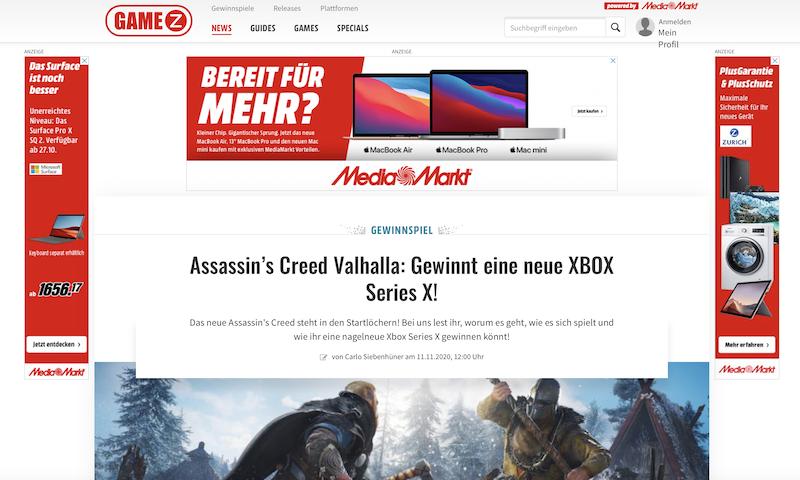 GameZ - Mediamarkt Gewinnspiel XBOX Series X