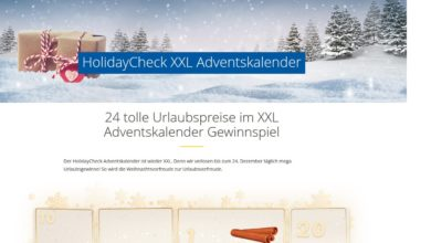 HolidayCheck XXL Adventskalender Gewinnspiel 2020