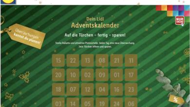 Lidl Adventskalender Gewinnspiel 2020
