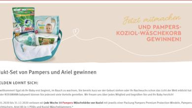 Rossmann Gewinnspiel - Produkt-Set von Pampers und Ariel gewinnen