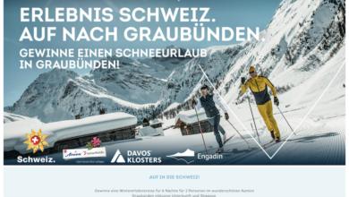 SportCheck Gewinnspiel - Schneeurlaub in Graubünden