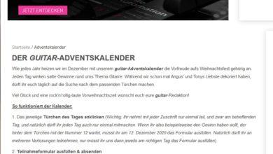 guitar Adventskalender Gewinnspiel 2020