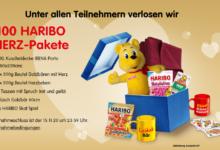 Bild von Jetzt 1 von 100 HARIBO-Herz Paketen gewinnen – HARIBO Gewinnspiel