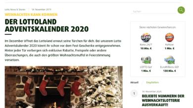 Lottoland Adventskalender Gewinnspiel 2020