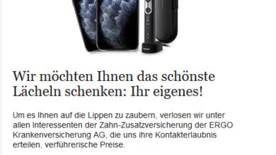 Bild von Jetzt ein Iphone 11 Pro und vieles mehr gewinnen! – ERGO Gewinnspiel