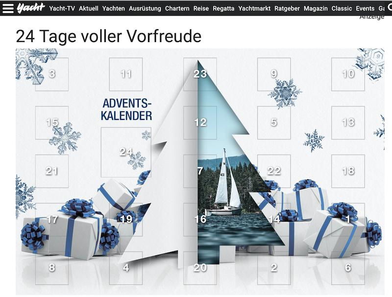 Yacht.de Adventskalender Gewinnspiel 2020