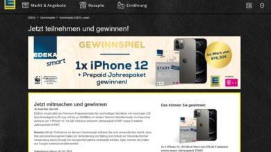 Edeka Gewinnspiel – iPhone 12 Jahrespaket START gewinnen!