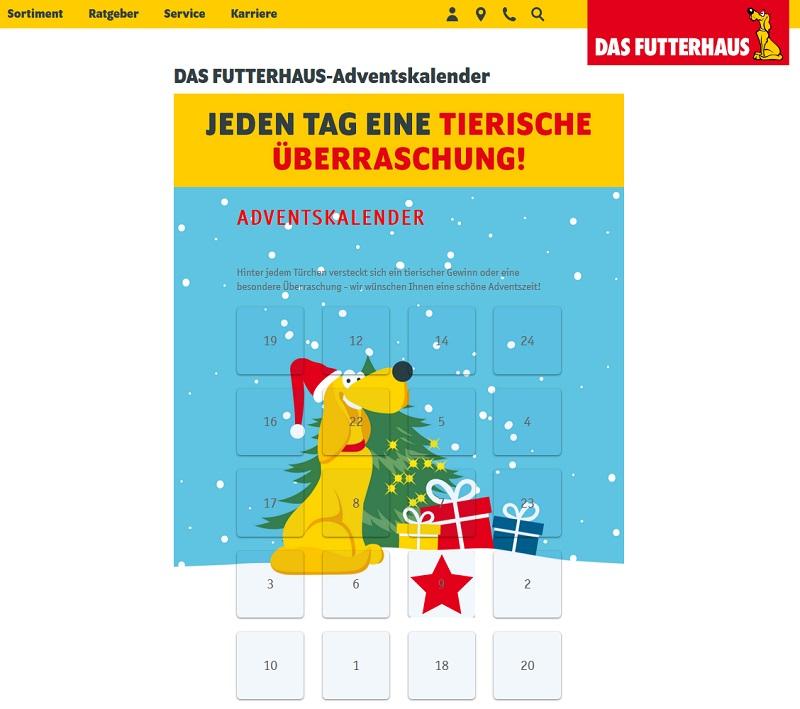 Futterhaus Adventskalender Gewinnspiel 2020