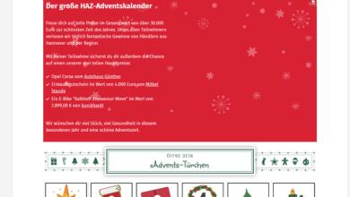 Hannover Adventskalender Gewinnspiel 2020