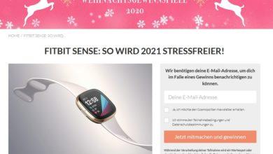 Jetzt Fitbit Sense gewinnen - Cosmopolitan Gewinnspiel
