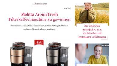 Jetzt Melitta AromaFresh Filterkaffeemaschine gewinnen: Für Sie Gewinnspiel