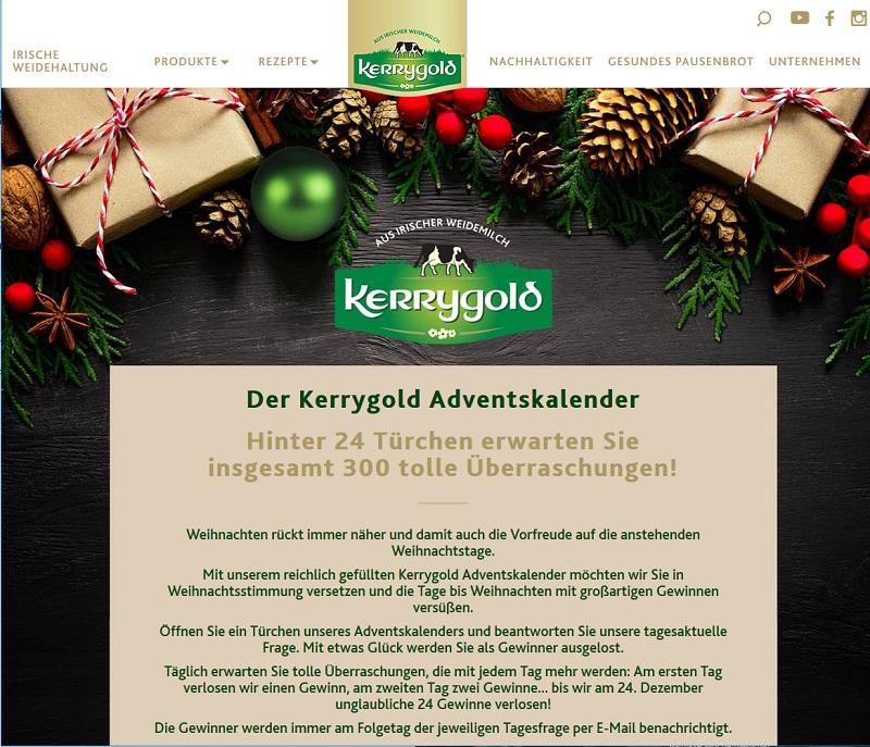 Kerrygold Adventskalender Gewinnspiel 2020