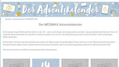 Medimax Adventskalender Gewinnspiel 2020