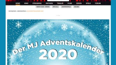 Moviejones Adventskalender Gewinnspiel 2020