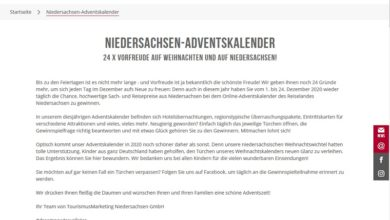 Niedersachsen Adventskalender Gewinnspiel 2020