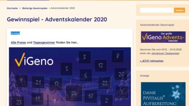 ViGeno Adventskalender Gewinnspiel 2020