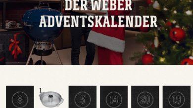 Weber Adventskalender Gewinnspiel 2020