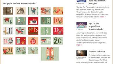 Weihnachten in Berlin Adventskalender Gewinnspiel 2020