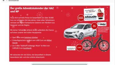 Weihnachten in Hannover Adventskalender Gewinnspiel 2020