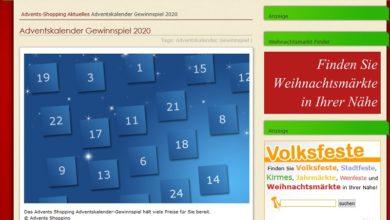 advents-shopping.de Adventskalender Gewinnspiel 2020