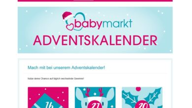babymarkt Adventskalender Gewinnspiel 2020
