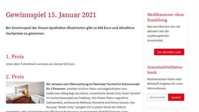 500 Euro Bargeld gewinnen: aponet Gewinnspiel